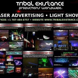 Laser Advertising Display Rental Worldwide