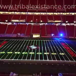 Facebook Corporate Stadium Event High Power Laser Show Custom Graphic Animation Display  Worldwide
