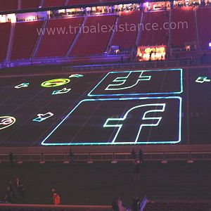Stadium Laser Graphic Logo Animation Rental Servies Worldwide By Tribal Existance Productions