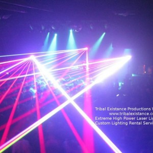 Concert Touring Laser Light Design Stage Rental Productions by Tribal Existance Productions Worldwide