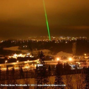 Extreme High Power Sky Laser Light Show By Tribal Existance Productions Worldwide TEP Worldwide
